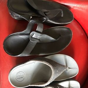 Two pairs of fit flops sandals